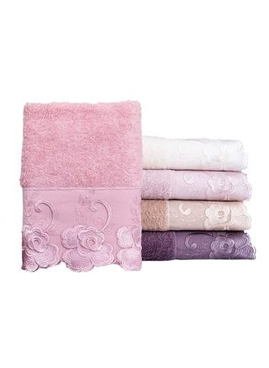 Minteks Cream-White Oya 50x90 6 lı 6 Renk Havlu Seti Renkli